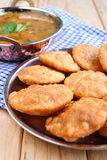 Kachori and aloo sabji Royalty Free Stock Photo