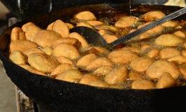Kachori fried doughnut spicy street food Royalty Free Stock Images
