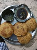 Kachori Indische snacks royalty-vrije stock foto