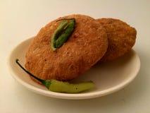 Kachori snacks. Kachori spicy snacks Stock Images