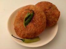 Kachori snacks. Kachori spicy snacks Royalty Free Stock Photography
