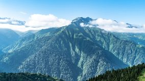 Kackar山在黑海Karadeniz里泽,土耳其 库存照片