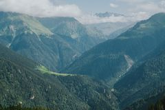 Kackar mountains with green forest landscapei n Rize,Turkey. Kackar mountains with green forest landscapei n Rize,Turkey royalty free stock photos