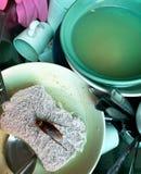 Kackerlacka i vasken arkivfoton