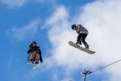 Kacper Gruszka, Polski snowboarder Fotografia Royalty Free