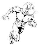 Kaczka bawi się maskotki biec sprintem Zdjęcia Stock