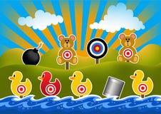 Kaczka krótkopędu gry ilustracja obrazy royalty free