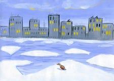 kaczka lód Obrazy Royalty Free