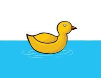 Kaczka na wodzie ilustracja wektor