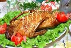 kaczka piec na grillu Fotografia Stock