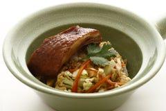 kaczka piec ryż Obraz Stock