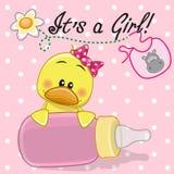Kaczki dziewczyna ilustracji