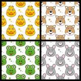 Kaczki Fox żaby królik Bezszwowy Fotografia Stock
