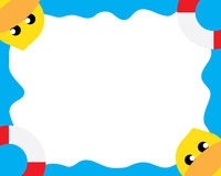 Kaczki morza tapeta ilustracji