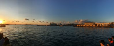 İstanbul Kadıköy sunset stock photo