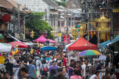 Kad Kong Ta Street Market, Lampang, Thailand. Stock Image