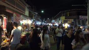 Kad Kong Ta walking street market. stock footage