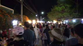 Kad Kong Ta walking street market. stock video footage