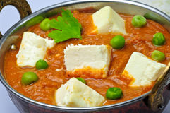 Kadai Paneer. Is A Traditional Popular Indian Dish Of Tomato gravy & Cheese Royalty Free Stock Photos