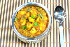 Kadai Paneer Dish. Made of cheese cubes and spices is a north indian dish Stock Photos