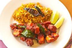Kadai Paneer with Tamarind Rice Royalty Free Stock Images