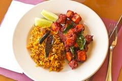 Kadai Paneer with Tamarind Rice Stock Photography
