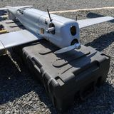 Complex with unmanned aerial vehicles «ORLAN-10` Stock Images