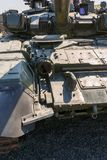 Modernized tank T-90A, front view. KADAMOVSKIY TRAINING GROUND, ROSTOV REGION, RUSSIA, 26 AUGUST 2017: International military technical forum ARMY-2017 Stock Images