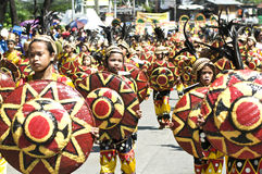 Kadayawan good harvest Festival. Picture of a festival street parade during Kadayawan festival, Davao City Philippines Royalty Free Stock Images