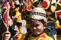 Kadayawan good harvest Festival. Picture of a festival street parade during Kadayawan festival, Davao City Philippines Royalty Free Stock Photo