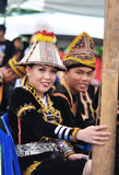 Kadazan Dusun People Of Borneo With Traditional Costume Royalty Free Stock Photography