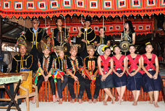 Kadazan Dusun People Of Borneo With Traditional Costume Stock Photo