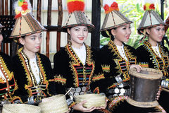 Kadazandusun ladies in their traditional costume Royalty Free Stock Photo