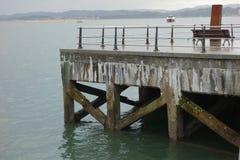 Kade bij de haven van Santander Stock Afbeelding