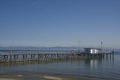 Kade in het Meer van Konstanz Stock Afbeelding