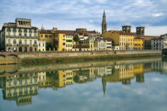 Kade van Arno in Florence Royalty-vrije Stock Afbeelding