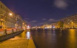 Kade van de rivier van Fontanka in St. - Petersburg. Royalty-vrije Stock Fotografie