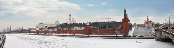 Kade van Moskou-Rivier Royalty-vrije Stock Foto