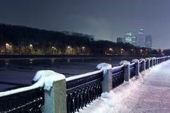 Kade van rivier Moskva Royalty-vrije Stock Foto