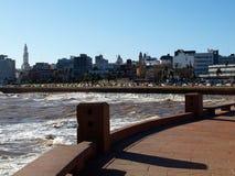 Kade van stad Montevideo Stock Afbeelding