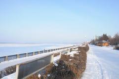 Kade van Volga Royalty-vrije Stock Foto