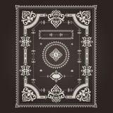 Kader Arabisch patroon Royalty-vrije Stock Afbeeldingen