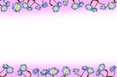 Kader blauwe bloemen royalty-vrije stock afbeelding