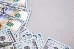 Kader door dollars Royalty-vrije Stock Afbeeldingen