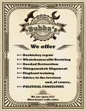 Kader en etiket voor de manusje van allesdiensten in retro stijl Royalty-vrije Stock Foto