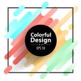 Kader en Kleurrijke moderne stijlsamenvatting royalty-vrije stock afbeeldingen