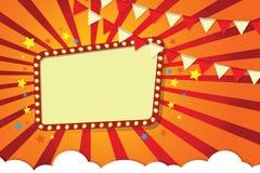 Kader, festivalstijl, illustratie voor ontwerpers, banners, affiches vector illustratie