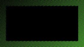 Kader halftone psychedelische grens Grafische in syntwaveachtergrond stock illustratie