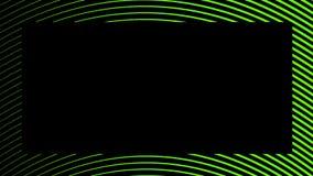 Kader halftone psychedelische grens Grafische in syntwaveachtergrond vector illustratie