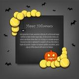 Kader Halloween met tennisballen stock illustratie